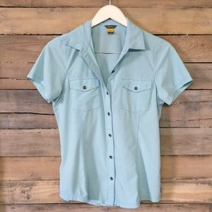 EDDIE BAUER Departure Free Dry Shirt Top Button S